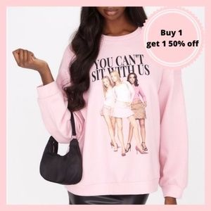 Pink Meangirls Sweatshirt You Can't Sit With Us